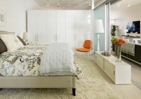 简约卧室整体衣柜效果图