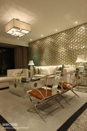 现代中式客厅隔断装饰效果图