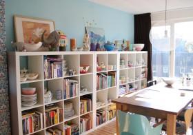 现代家庭书房书架装修图片