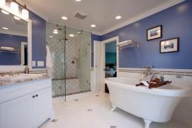 家装卫生间浴缸装修效果图