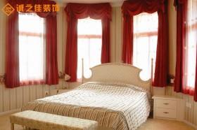 欧式卧室窗帘效果图片