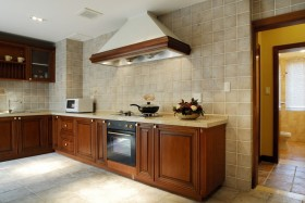 美式厨房瓷砖图片