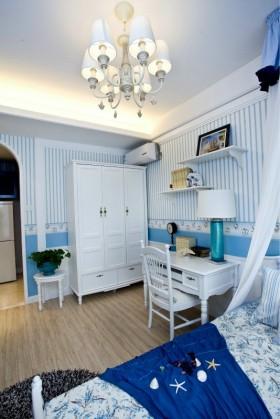 地中海风格卧室衣柜装修设计图