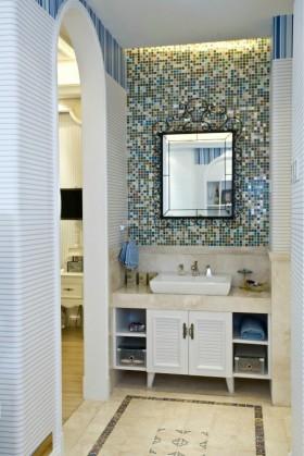 地中海风格洗手间装修效果图