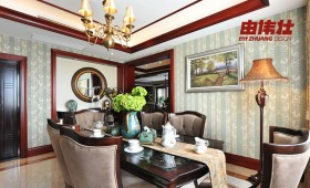 美式风格餐厅壁纸装饰设计图