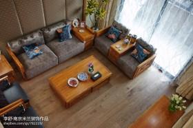 新中式实木沙发图片
