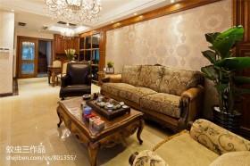 一层别墅客厅装修效果图大全2013图片