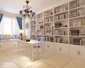 地中海风格书房书架装修图片