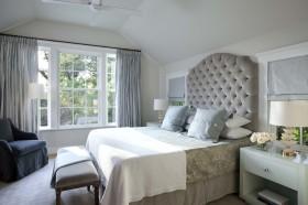 简约卧室软包背景墙设计效果图