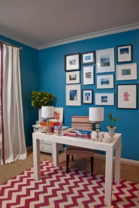 地中海风格书房照片背景墙效果图