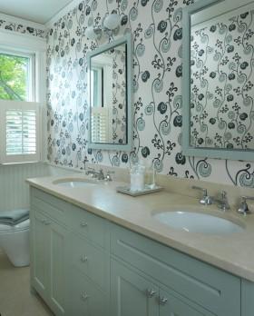 欧式小卫生间壁纸效果图