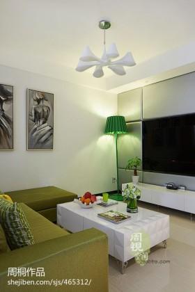 现代客厅电视背景墙设计图片大全