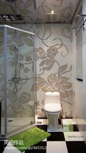现代小卫生间瓷砖效果图大全