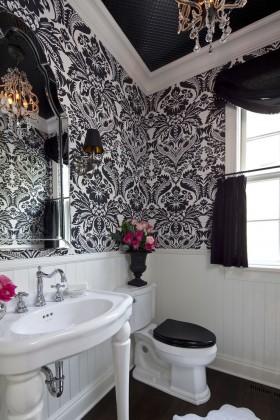 小卫生间壁纸装修设计图