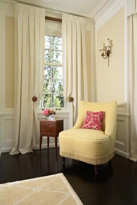 白色窗帘设计效果图
