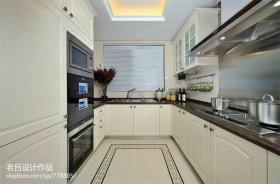 现代长方形厨房装修设计图
