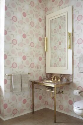 小卫生间壁纸装修设计图片