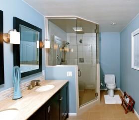 地中海风格卫生间淋浴房设计图