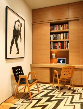 现代书房书柜装饰设计图