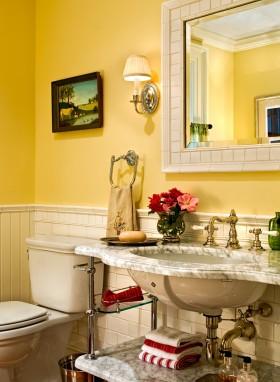 小户型整体卫生间效果图 卫生间洗手台