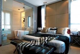 主卧室床头软包装潢设计图