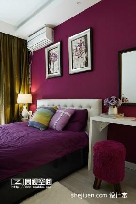 紫色卧室装饰效果图