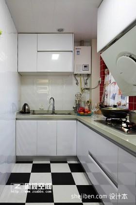 家庭L型厨房装修效果图片欣赏