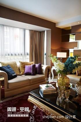 现代客厅窗帘设计效果图