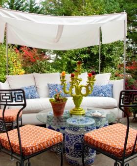 露天阳台花园装修效果图