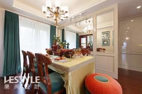 混搭风格餐厅窗帘装饰效果图片
