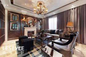 欧式现代风格客厅吊灯装饰效果图