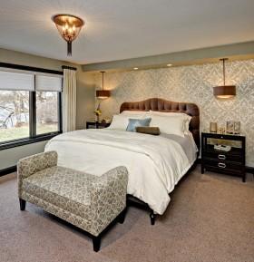 欧式卧室壁纸装饰效果图