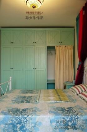 地中海风格卧室衣柜装饰效果图