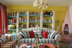 地中海风格客厅沙发装修设计图