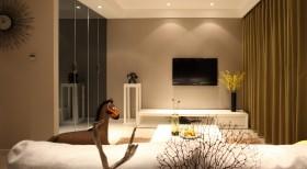 二房一厅客厅电视背景墙设计