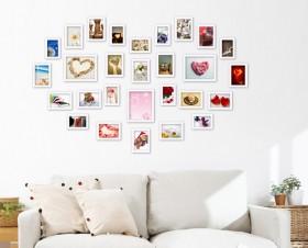 客厅心形照片墙效果图