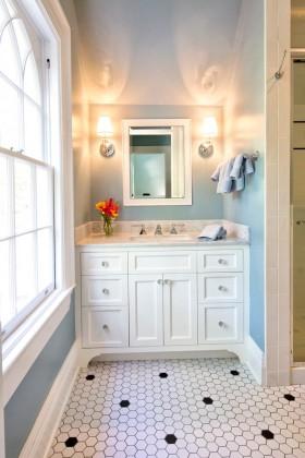 洗手间浴室柜装修效果图