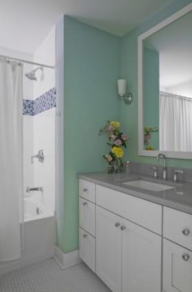 欧式卫生间浴室柜装饰效果图