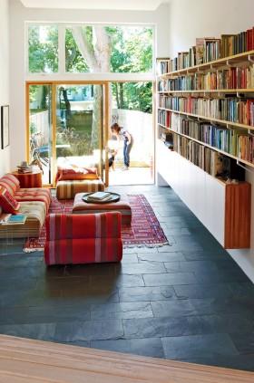 别墅客厅书架装修效果图