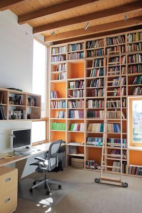 别墅书房书柜装修设计图