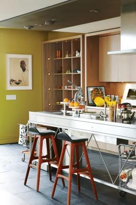 别墅厨房吧台装修效果图