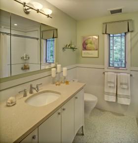 现代卫生间浴室柜装饰效果图