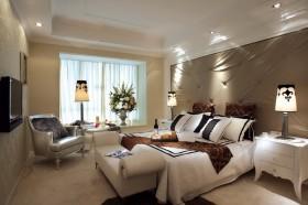 新古典风格主卧室飘窗装修效果图