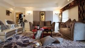 新古典客厅沙发摆设效果图