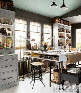 欧式风格书房欧式书房书柜装修效果图片