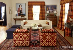 小型客厅窗帘效果图