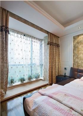 卧室飘窗飘窗卧室窗帘装修效果图大全