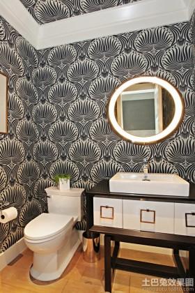 现代风小卫生间壁纸效果图