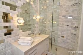 现代风格卫生间瓷砖效果图