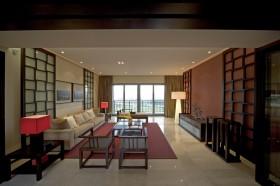 中式大户型客厅装修效果图
